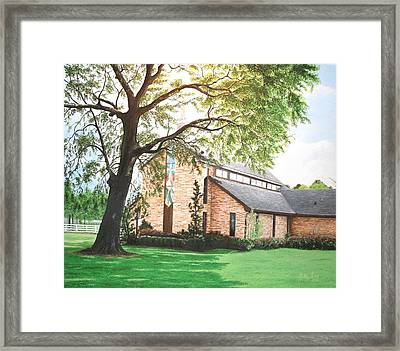 Framed Print featuring the painting Greenwood by Mike Ivey