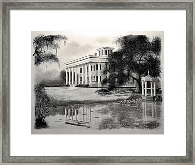 Greenwood Plantation Framed Print