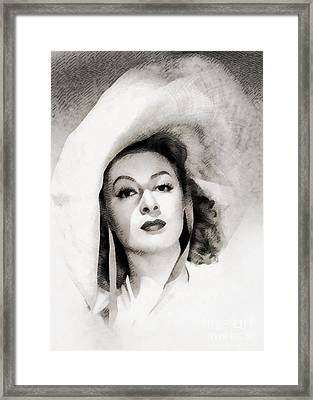Greer Garson, Vintage Actress By John Springfield Framed Print by John Springfield