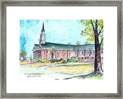 Greer United Methodist Church Framed Print by Patrick Grills