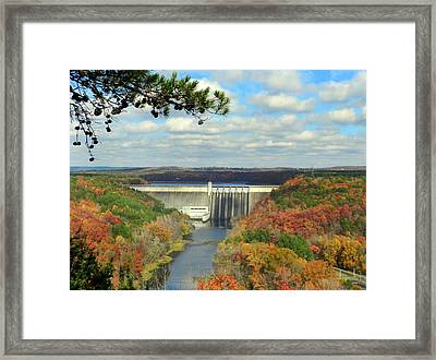 Greers Ferry Dam Framed Print by Delana Epperson