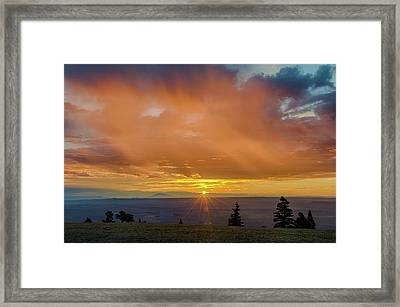 Greet The Marble View Morning Framed Print