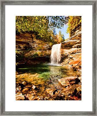 Greeter Falls Pool Framed Print