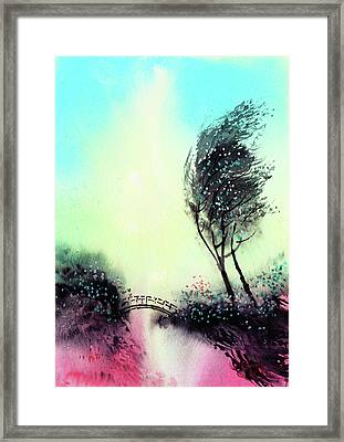 Framed Print featuring the painting Greeting 1 by Anil Nene