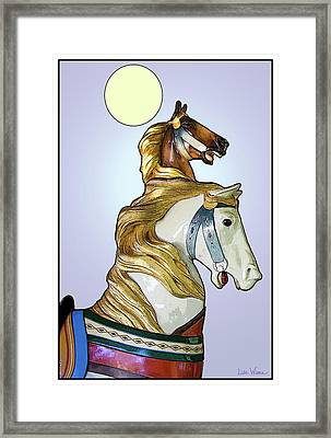 Framed Print featuring the digital art Greeting The Moon by Lise Winne