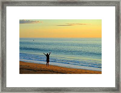 Greeting The New Day Framed Print by Dianne Cowen