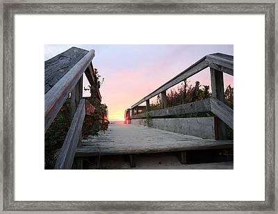 Greeting The Sunrise Framed Print by Mary Haber