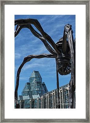 Greetings From Ottawa Framed Print by Nina Stavlund