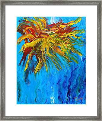 Greetings From Planet Squid Framed Print by Lola Connelly