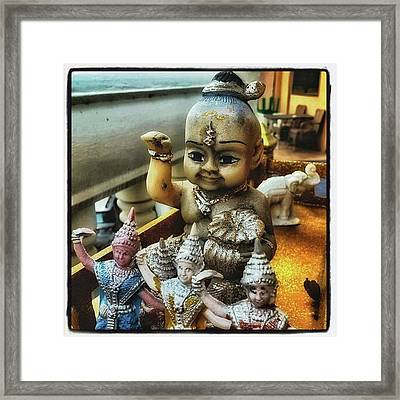 Framed Print featuring the photograph Greetings From Thailand. These Jolly by Mr Photojimsf