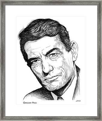 Gregory Peck Framed Print by Greg Joens