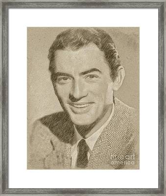 Gregory Peck Hollywood Actor Framed Print by Frank Falcon