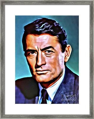 Gregory Peck, Vintage Hollywood Actor Framed Print