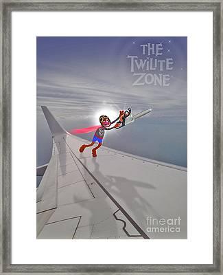 Nightmare At 20,000 Feet Framed Print