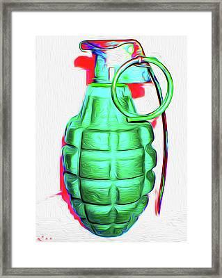 Grenade Green,a,nixo Framed Print