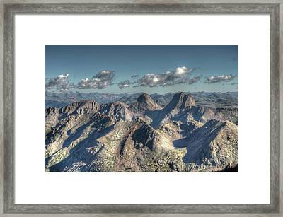 Framed Print featuring the photograph Grenadier Mountains by Aaron Spong