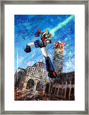 Grendizer Lucca Framed Print by Andrea Gatti