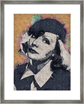 Greta Garbo Illustration Framed Print