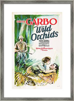 Greta Garbo In Wild Orchids 1929 Framed Print by Mountain Dreams