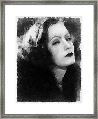 Greta Garbo Framed Print by Esoterica Art Agency