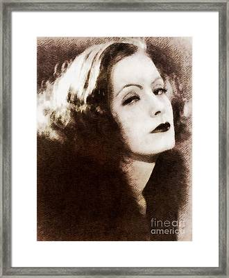 Greta Garbo, Vintage Actress By John Springfield Framed Print