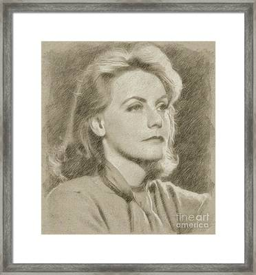 Greta Garbo Vintage Hollywood Actress Framed Print by Frank Falcon