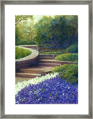 Gretchen's View At Cheekwood Framed Print by Janet King