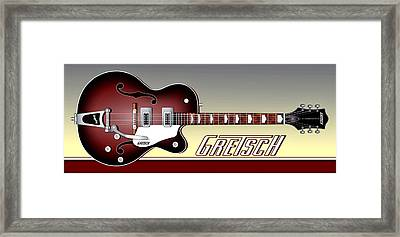Gretsch Guitar Framed Print by Anthony Citro