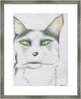 Framed Print featuring the drawing Gretta by Kim Sy Ok