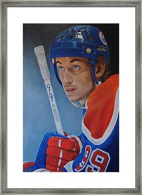 'gretzky' Wayne Gretzky Framed Print by David Dunne