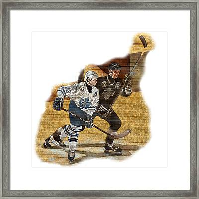 Gretzky And Gilmour Framed Print by Andrew Fare