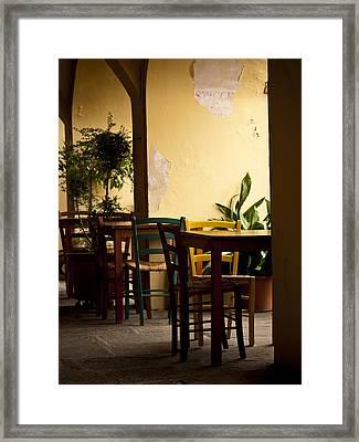 Greve In Chianti Patio Framed Print by Rae Tucker