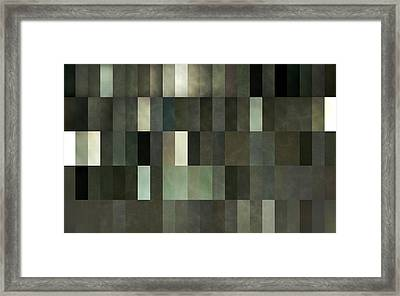 Grey And Gray Framed Print