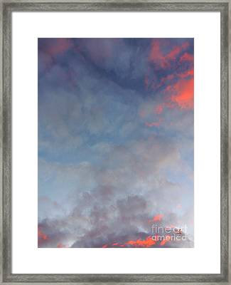 Pink Flecked Sky Framed Print by Linda Hollis