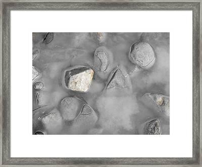 Grey And White And Grey Framed Print by john Kuti
