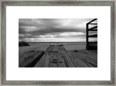 Grey Beach Framed Print