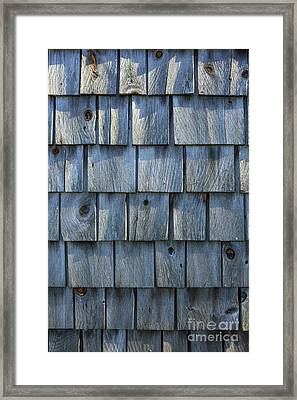 Grey Cedar Shingles On An Old Barn Framed Print