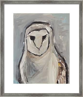Grey Framed Print by Chelle Fazal