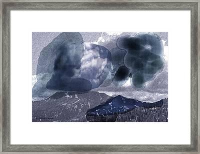 Grey Clouds Framed Print