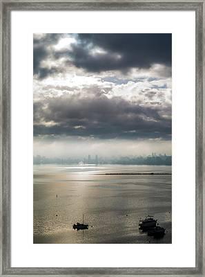 Gray Day Framed Print by Niel Morley