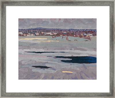 Grey Day River Framed Print by Phil Chadwick