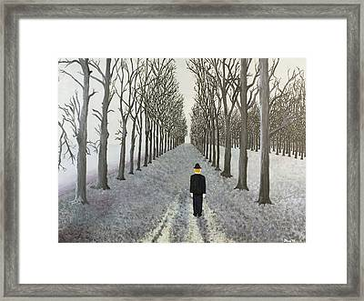 Grey Day Framed Print