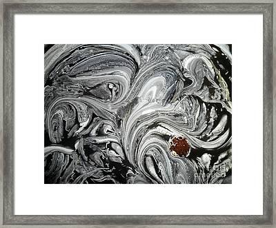 Grey Embryo Framed Print by Anthony Manders
