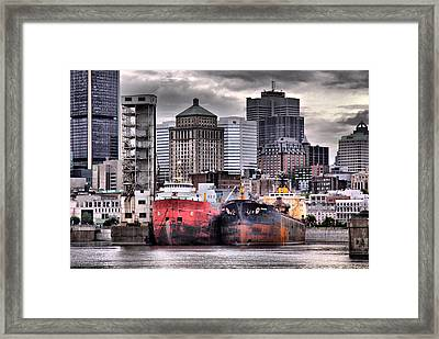 Grey Haven Framed Print