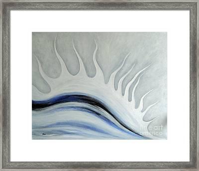 Grey January Framed Print by Eva-Maria Becker