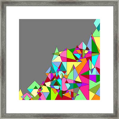 Grey Multicolored Abstract 2 Framed Print