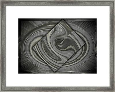 Grey On Grey Framed Print