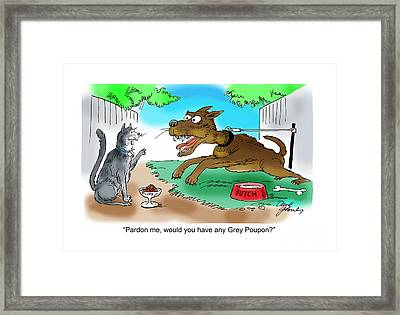 Grey Poupon Framed Print by David Lloyd Glover