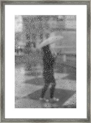 Grey Rain Framed Print