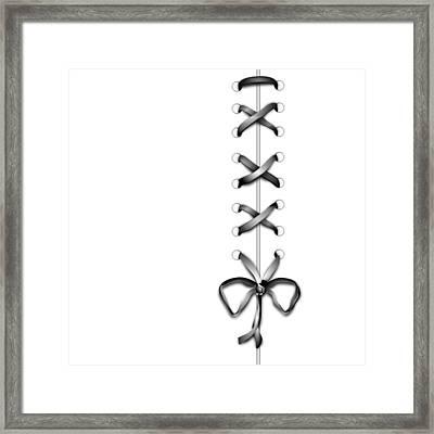 Grey Ribbon Framed Print
